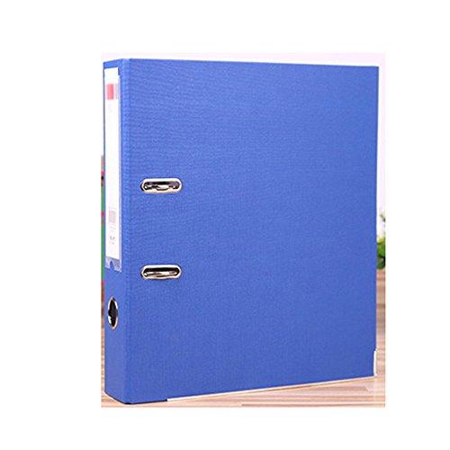 A4 Prem'Touch PVC Lever Arch File, 2-ring, 70mm Spine, Black (Color : Blue) (2 Line Arch)
