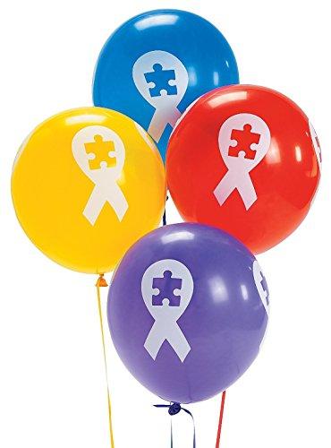 Autism Awareness Ribbon Latex Balloons (48 Pieces) -