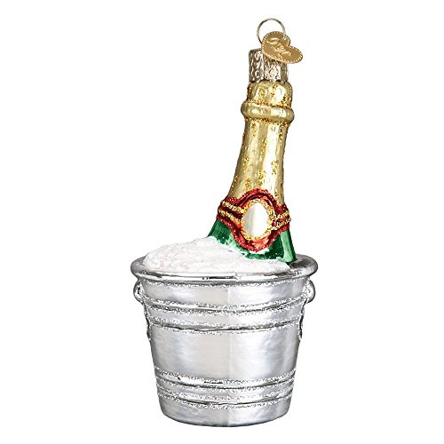 Old World Christmas 32328 Ornament, Chilled Champagne (Bottle Champagne Ornament)
