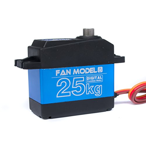 Fan Model FS-25W 25KG/.07S Waterproof High Torque Metal Gear Coreless Digital Servo for RC Robot Car