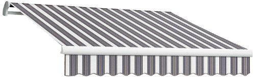 Awntech 10-Feet Maui-LX Motor with Remote Retractable Awning, 96-Inch, Navy/Gray/White