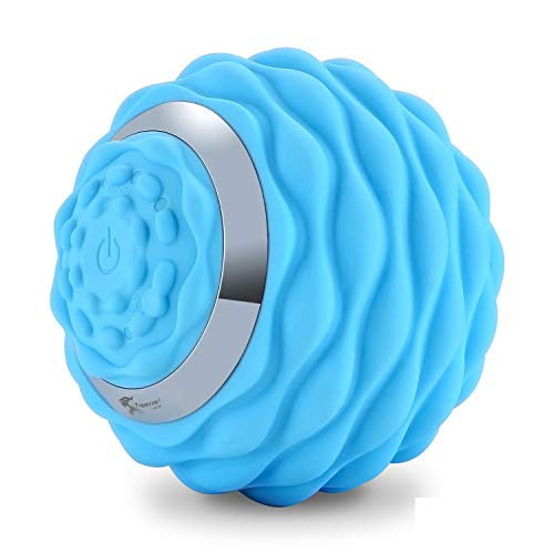 Deep Tissue Vibrating Massage Ball, 4-Speed High-Intensity Fitness Yoga Massage Roller, Massage Balls for Myofascial Release and Pain Relief, Electric Rechargeable Vibrating Massage Ball