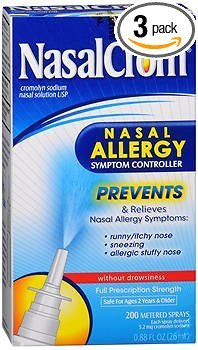 NasalCrom Nasal Allergy Symptom Controller Spray - 0.88 oz, Pack of 3 -  (Nasal Crom), 01101