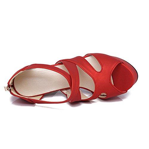 Red Zanpa Mode 2 Sandali Donna Piattaforma 5FFwq7X