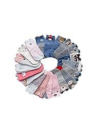 10 Pairs Unisex Baby Warm Cotton Socks Winter Thick Turn Cuff Toddler Crew Socks