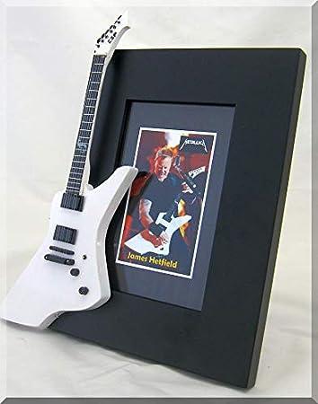ARTSTUDIO35 James Hetfield Miniatura Marco de la Guitarra Imagen Metallica