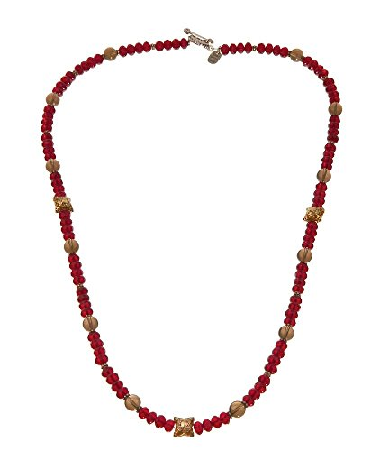 Red Carpet Starlet Costume (Red Bead Cloisonné and Smoky Quartz Necklace)