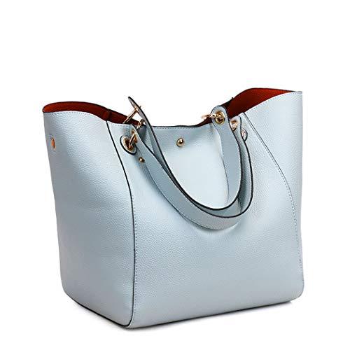 Shoppers Mujer de Azul y bandolera bolsos clutches mano y Bolsos Carteras DEERWORD Claro hombro de 1Fqwp5p