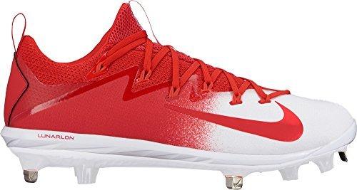 1383b9dba Galleon - Nike Mens Lunar Vapor Ultrafly Elite Metal Baseball Cleats  (Red White