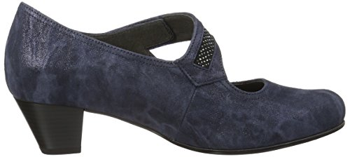 Gabor Damen Comfort Pompen, Zwart Blau (ocean 36)