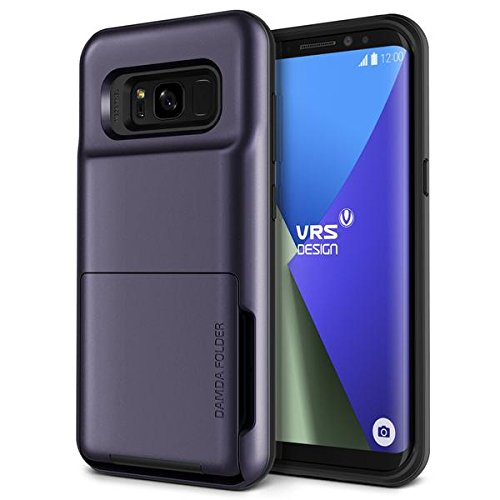 VRS DESIGN Galaxy S8 Plus Case, Protective Wallet 5 Card Holder Case [Orchid Gray] Premium Shockproof Heavy Duty Cover for Samsung Galaxy S8 Plus [Damda Folder]