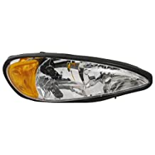 OE Replacement Pontiac Grand AM Passenger Side Headlight Assembly Composite (Partslink Number GM2503196)