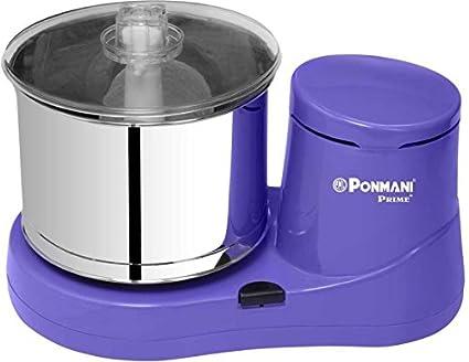 Ponmani Plastic Prime Plus Table Top Wet Grinder (2L, Lavender)