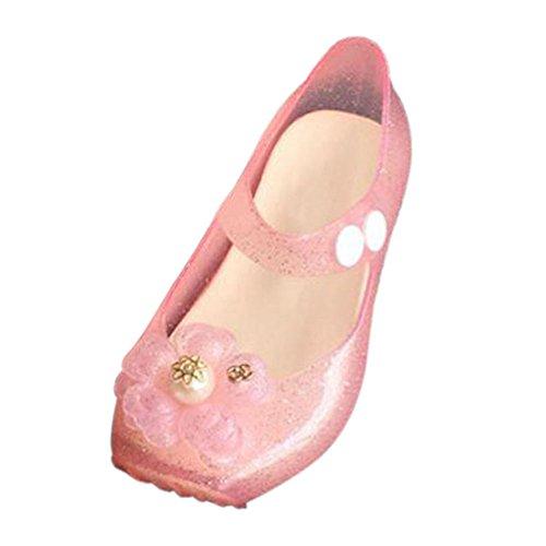 Haodasi Säugling Baby Jungen Niedlich Blumen Anti-Rutsch Weich Gelee Ballett Flache Schuhe Kleinkind Kinder Strand Sandalen Regen Stiefel Pink