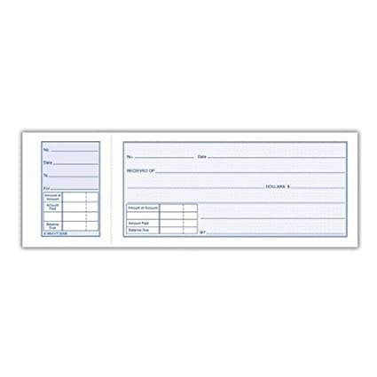 amazon com adams money receipt book with stub 5 15 16in x 2 3