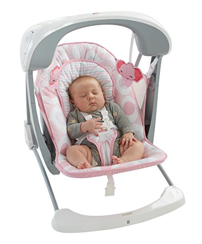 Fisher-Price Deluxe Take Along Swing and Seat, Pink/White by Fisher-Price