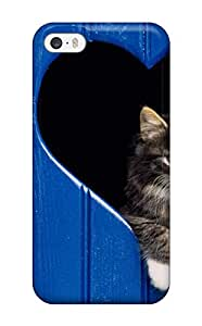 Shaun Starbuck's Shop Christmas Gifts 6431410K24041091 Slim Fit Tpu Protector Shock Absorbent Bumper Cat In Heart Cutout Case For Iphone 5/5s