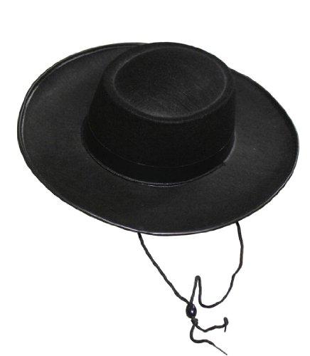 Rubie's Costume Co Durashpe Pork Pie Hat-Black Costume