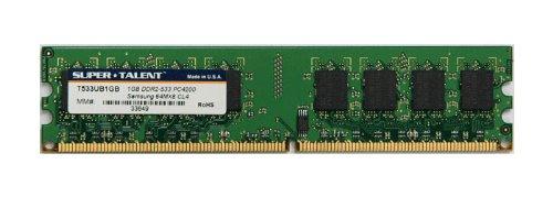 (Super Talent DDR2-533 1GB/64x8 CL4 Desktop Memory T533UB1GB, Bulk)