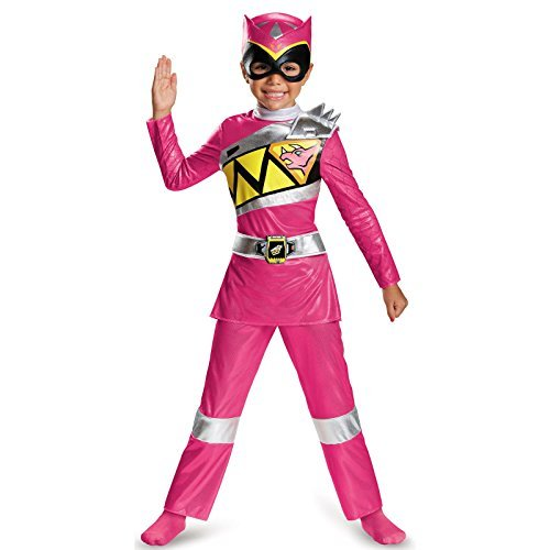 2t Pink Power Ranger Costume (Disguise Pink Ranger Dino Charge Deluxe Toddler Costume, Small (2T) by Disguise)