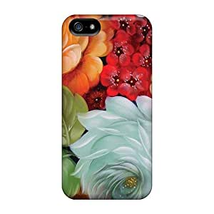 Rugged Skin Cases Covers For Case Iphone 6Plus 5.5inch Cover Eco-friendly Packaging(flowers Paint)