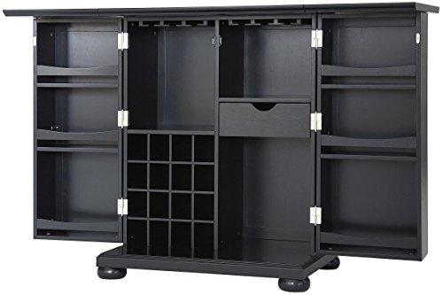 (Crosley Furniture Alexandria Expandable Top Bar Cabinet -)
