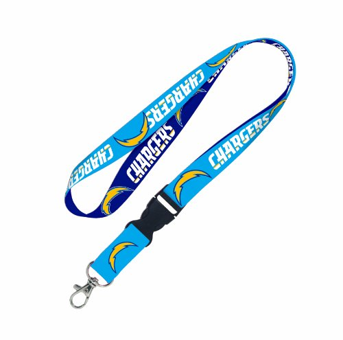 WinCraft NFL San Diego Chargers Lanyard with Detachable Buckle (Chargers Key Ring San Diego)