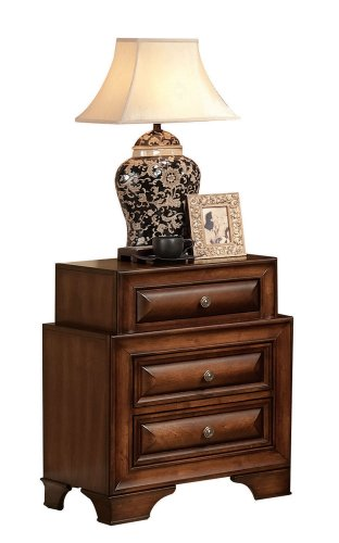 ACME 20456 Konane Nightstand, Brown Cherry Finish