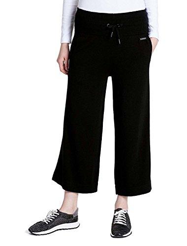 Calvin Klein Performance Women's Wide Leg High Waist Capri Pants Black Medium