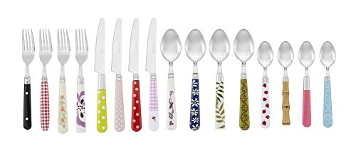 Gypsy Color Mix and Match Lifestyle Cutlery and Eating Utensils Gift Set of 16 pieces, Colorful Flatware Set Multicolor Eclectic Collection by Gypsy Color (Image #2)