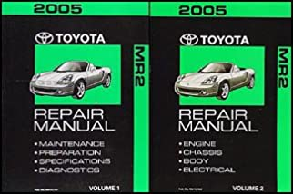 2005 toyota mr2 spyder repair shop manual set original toyota rh amazon com 2005 Toyota MR2 Spyder mr2 spyder workshop manual