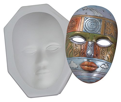 Plaster Face Molds - Mayco CD879 Plain Plaster Face Mask Mold, 9