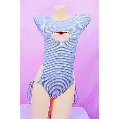paloli Women's Knit Turtleneck Sleeveless Open Back Sweater Anime Bikini Top Vest Virgin Killer at Women's Clothing store