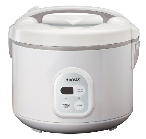 Aroma ARC-838TC 8-Cup (Uncooked), 16-Cup (Cooked) Digital Rice Cooker and Food Steamer, White
