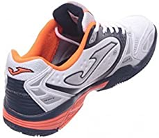 joma Zapatilla Padel Match Withe-Orange Talla 41 EUR: Amazon ...