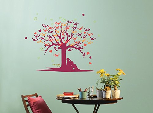 70bcfde4ca5 Buy Asian Paints Nilaya Tree of Love Wall Stickers Online at Low Prices in  India - Amazon.in