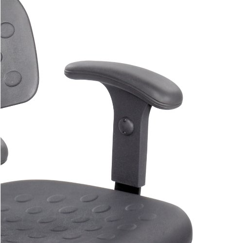 Safco Products 6683 T-Pad Arm Set for use with select Soft Tough and WorkFit Chairs, sold separately, Black