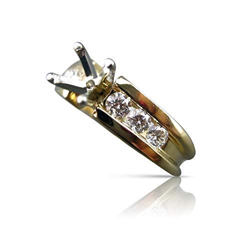 Milano Jewelers .48CT Diamond 14KT Two Tone Gold SEMI Mount Engagement Ring E/F #17179
