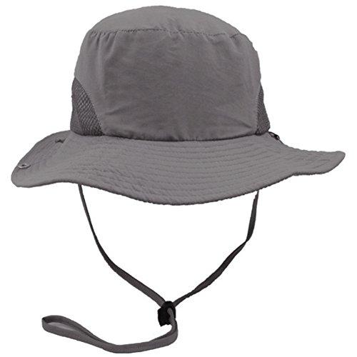 442be40fe2ba0 Eqoba Men   Women s Outdoor SPF 50+ UV Protection Safari Sun Hat ...