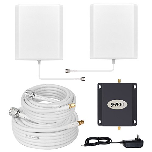 Wind Repeater (T-Mobile AWS MetroPCS 3G 4G LTE Band 4 1700/2100MHZ Cell Phone Signal Booster Mobile Amplifier Repeater SHWCELL Strength Signal Including Indoor/Outdoor Panel Antennas for Home Office Basement)