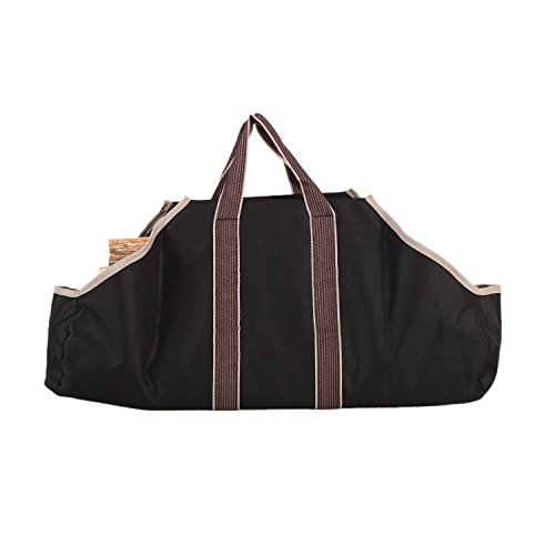 BeGrit Firewood Canvas Log Carriers Tote Bag Indoor Fireplace Holder Round Woodpile Fire Wood Totes Carrying for Outdoor Tubular Birchwood Stand by BeGrit