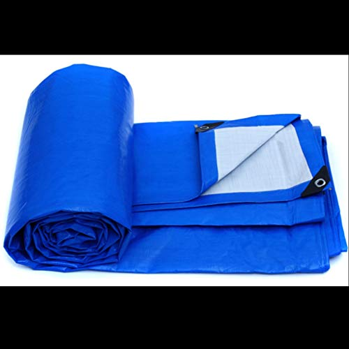 ZfgG Waterproof Tarpaulin Blue Orange Two-Tone Rain Cloth Windproof Greenhouse Shed Outdoor Shed Cloth Thickness 0.28mm A Variety of Sizes of Tarpaulin are Available (Size : 5M7M) ()