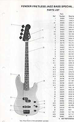 electric bass wiring diagrams parts list diagram for fender fretless jazz bass special  electric  fender fretless jazz bass
