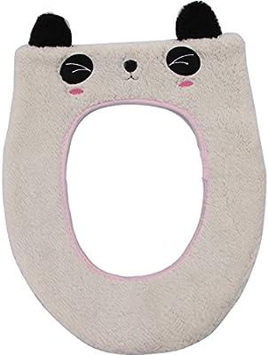 Vanki Cute Cartoon Soft And Warm Toilet Seat Cover Panda 1pcs