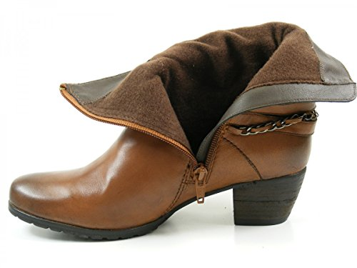 SPM 10216628 Sydney botas para mujer de cuero Braun