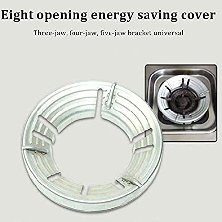 Fanville Stainless Iron Fire Stove Cover Energy Saving Gas Hood Windproof Gather Fire for Kitchen Heavy Duty Iron Trivet for Gas Hob Stoves