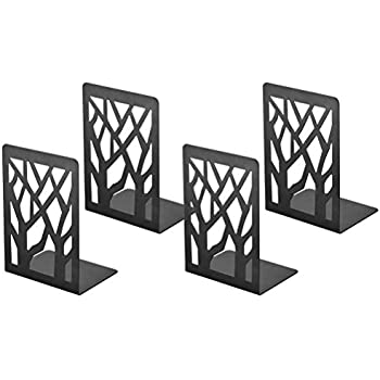 Book Ends, Bookends, Book Ends for Shelves, Bookends for Shelves, Bookend, Book Ends for Heavy Books, Book Shelf Holder Office Decorative, Metal Bookends Black 2 Pair, Bookend Supports, Book Stoppers