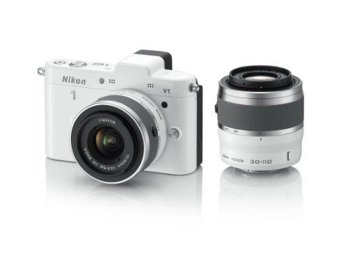 Nikon ミラーレス一眼カメラ Nikon 1 (ニコンワン) V1 (ブイワン) ダブルズームキット ホワイト N1 V1WZ WH