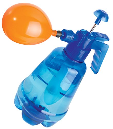 Water Balloon Portable Filling Station 3-in-1 Pump Fills Balloons with Water Or Air - w/ 250 Balloons and Water Pump for Kids, Birthday, Parties and More (Colors Will Vary)