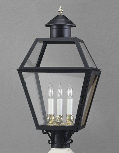norwell-lighting-2235-bl-cl-black-with-clear-glass-lexington-traditional-classic-3-light-outdoor-pos